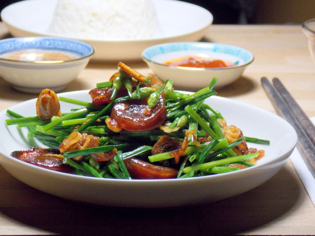 Stir-fry Chinese Chives With Dried Shrimps & Thai Sausage | The Social ...