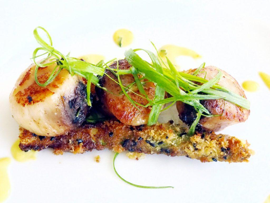 Crumbed In Panko Black Sesame Seeds And Spanish La Mancha Saffron Beaurre Blanc Entree Australian Gourmet 3 Course Set Dinner